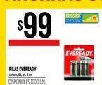Oferta de Pilas Eveready 4un por $99