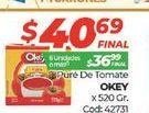 Oferta de Puré de tomate Okey 520gr  por $40,69