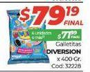 Oferta de Galletitas Diversion 400gr  por $79,19