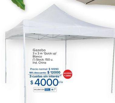 Oferta de Gazebo 3x3m  por $4000