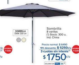 Oferta de Sombrilla 8 varillas por $1750