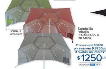 Oferta de Sombrilla refugio  por $1250