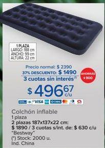 Oferta de Colchón inflable Bestway por $1490