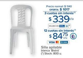 Oferta de Silla apilable por $339