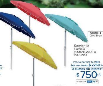 Oferta de Sombrilla de playa por $750