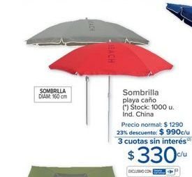 Oferta de Sombrilla de playa por $330