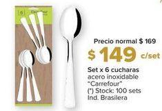 Oferta de Cucharas Carrefour por $149