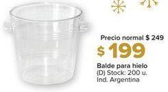 Oferta de Balde para hielo por $199