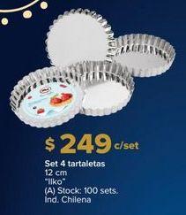 Oferta de Tartaletas Ilko por $249
