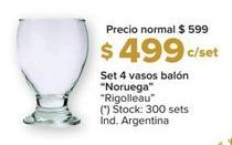 Oferta de Vasos Rigolleau por $499