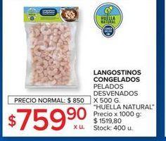 Oferta de Langostinos congelados pelados desvenados 500g  por $759,9