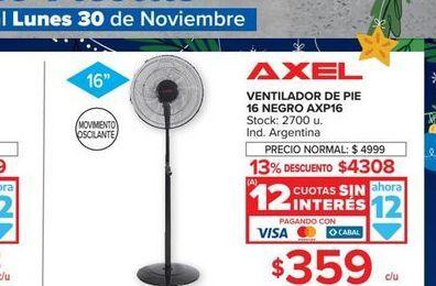 Oferta de Ventilador de pie Axel 16 negro  por $359