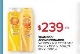 Oferta de Shampoo o acondicionador 650cc  Sedal 650cc por $239