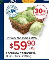 Oferta de Lechuga capuchina  por $59,9