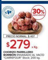 Oferta de Chorizo parrillero bombon  por $279