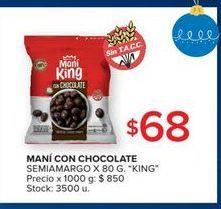 Oferta de Maní con chocolate semiamargo 80g  por $68