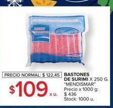 Oferta de Bastones de surimi 250g MENDISMAR  por $109