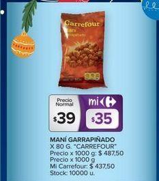 Oferta de Manígarrapiñado 80g CARREFOUR  por $39
