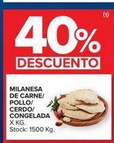 Oferta de Milanesa de carne/pollo/cerdo/congelada  por