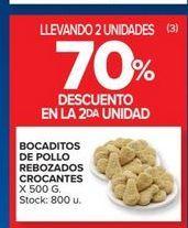 Oferta de Bocaditos de pollo rebozados corcantes 500g  por