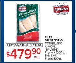 Oferta de Filet de abadejo congelado 700g  por $479,9