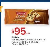 Oferta de Budin v/sabores 170g VALENTE  por $95