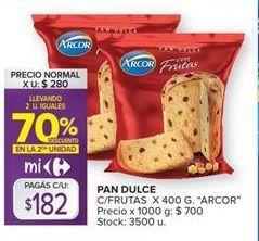 Oferta de Pan dulce Arcor 400g por $182