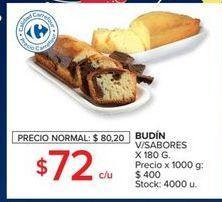 Oferta de Budín v/sabores 180g  por $72