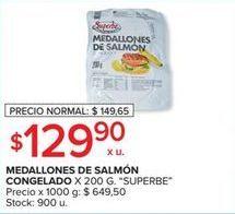 Oferta de Medallones de salmon congelado 200g SUPERBE  por $129,9