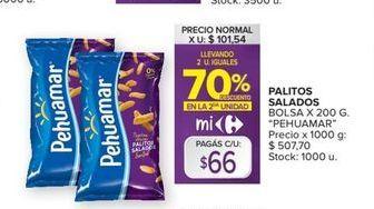 Oferta de Palitos salados Pehuamar por $66