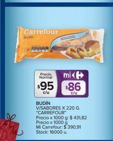 Oferta de Budín v/sabores CARREFOUR  por $95