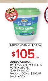 Oferta de Queso crema San Ignacio 290g por $105