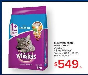Oferta de Alimento seco para gatos por $549