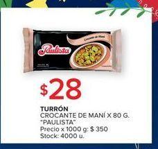 Oferta de Turrón crocante de mani 80g por $28