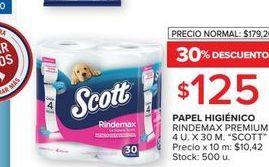 Oferta de Papel higiénico Scott 4u x 30m  por $125