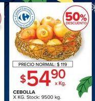 Oferta de Cebollas por $59,9