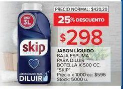 Oferta de Jabón líquido Skip 500cc  por $298