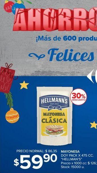 Oferta de Mayonesa Hellmann's 475cc por $59,9