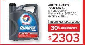 Oferta de Aceite quartz 7000 10w 40 por $2303
