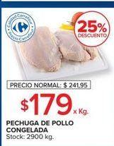 Oferta de Pechuga de pollo congelada  por $179