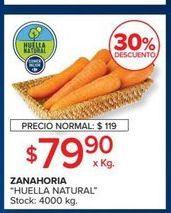 Oferta de Zanahorias por $79,9