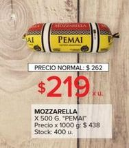 Oferta de Mozzarella 500g PEMAI  por $219