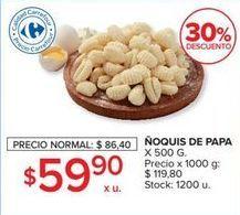Oferta de Ñoquis de papa 500g  por $59,9