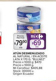 Oferta de Atún desmenuzado en aceite vegetal por $79,9