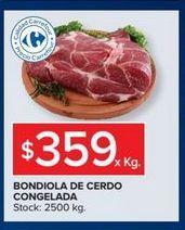 Oferta de Bondiola de cerdo congelado  por $359
