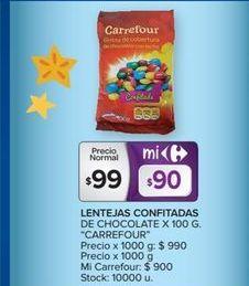 Oferta de Lentejas confitadas de chocolate 100g  por $99