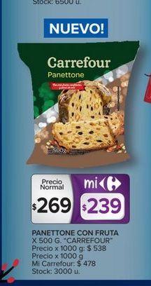 Oferta de Panettone con fruta 500g Carrefour por $269