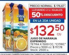 Oferta de Jugo de naranja Citric por $132,5
