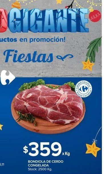 Oferta de Bondiola de cerdo congelada  por $359