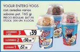 Oferta de Yogur Yogs por $57,78